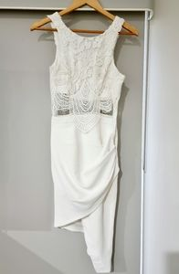 Rumour white cocktail / party dress - Size 8